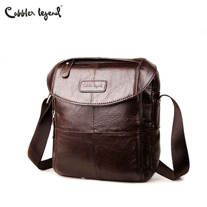 Genuine Leather Men Bags Casual Men's Messenger Bag Shoulder Crossbody
