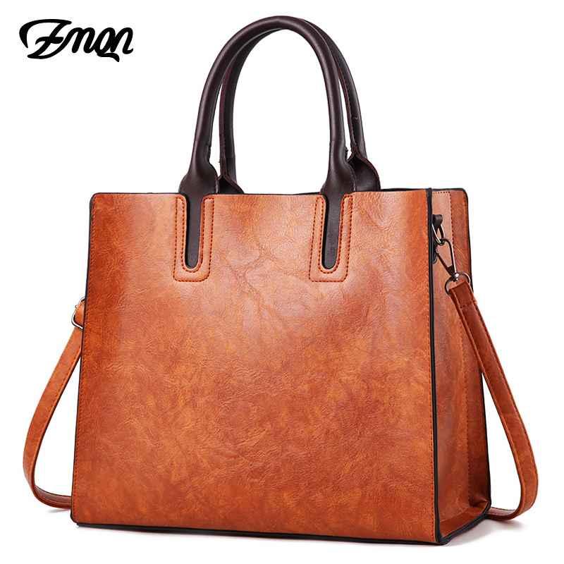 Luxury Leather Bags Women Handbags 2019 Large Capacity Vintage Ladies