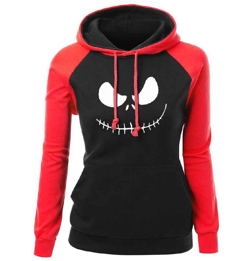 Womens Sweatshirt 2018 Autumn Winter Fleece Hoodie For Female Jack