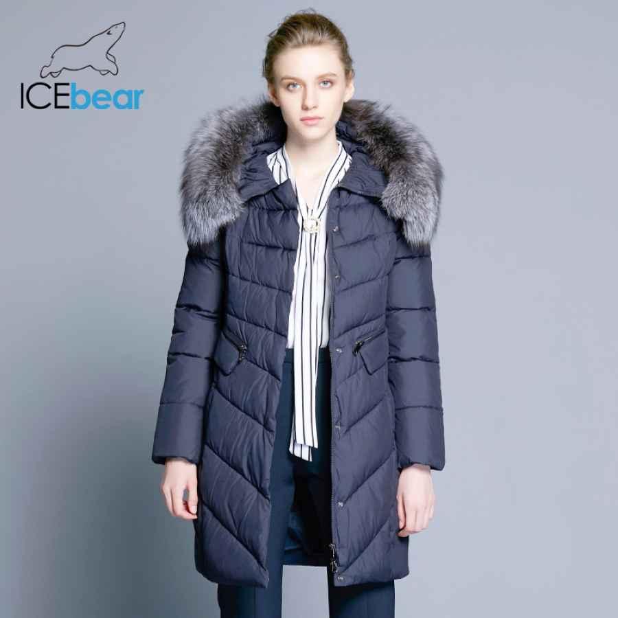 Icebear 2019 Collar Of Natural Fur Coat Women s Jacket Parkas