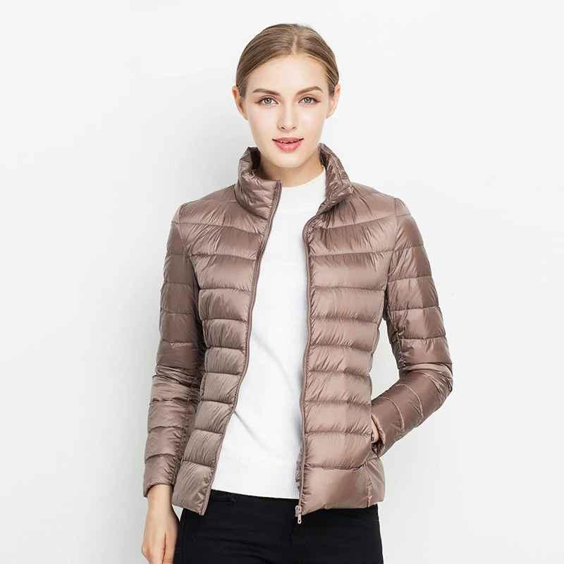 Coats ultra light 90% white duck down jacket women winter