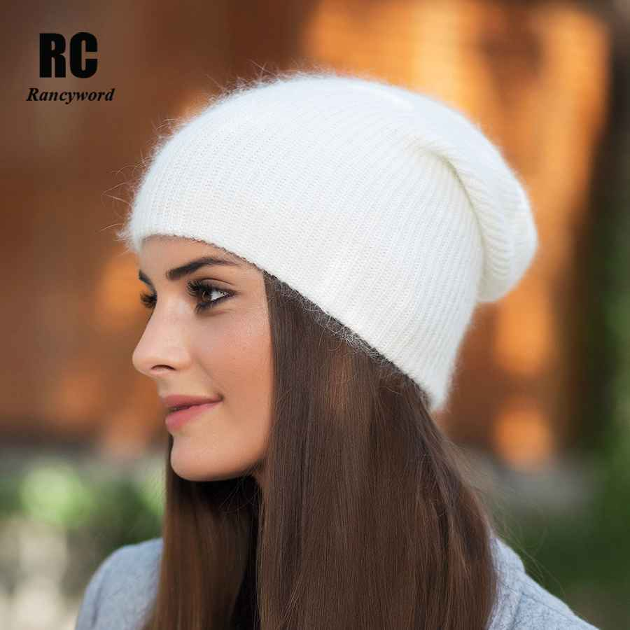 Rancyword High Quality Winter Hats For Women Cashmere Beanies Ladise