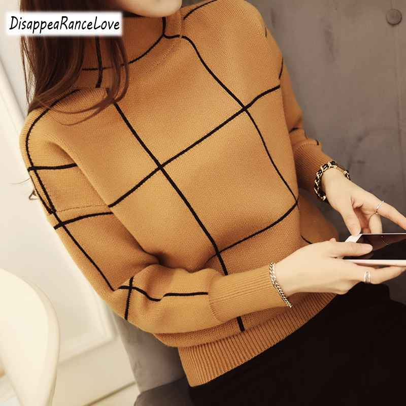 Womens Sets Disappearancelove 2019 High Quality Winter Turtleneck Sweater Thickening