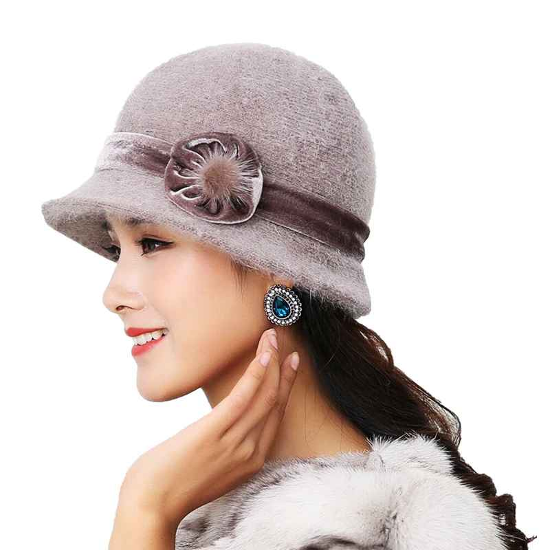 20 Style Hot Sell Winter Women Knitted Floral Skullies Super