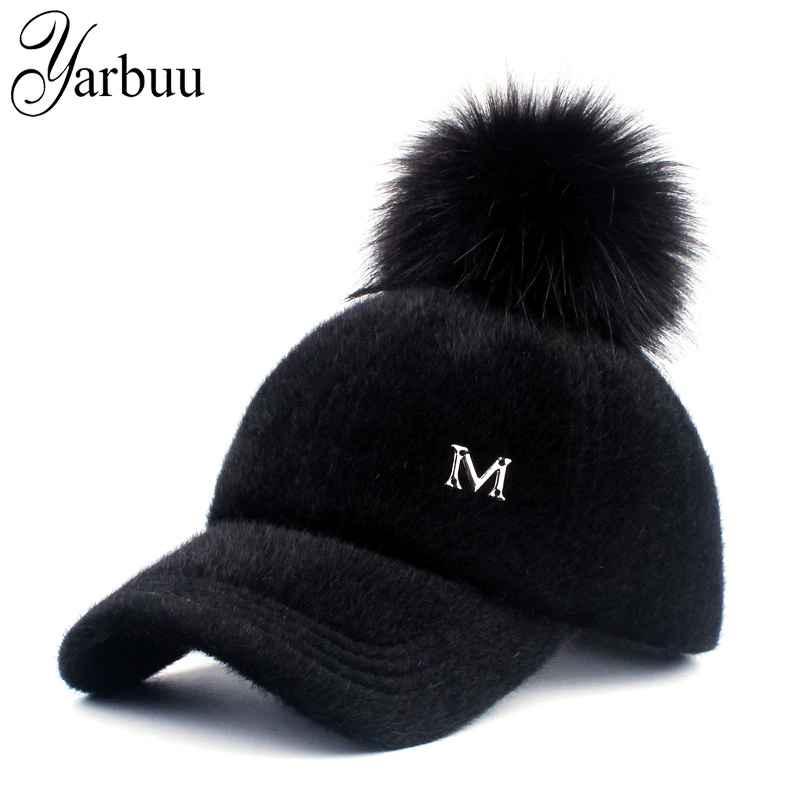 Yarbuu New Brand Baseball Caps 2017 Winter Cap For Women