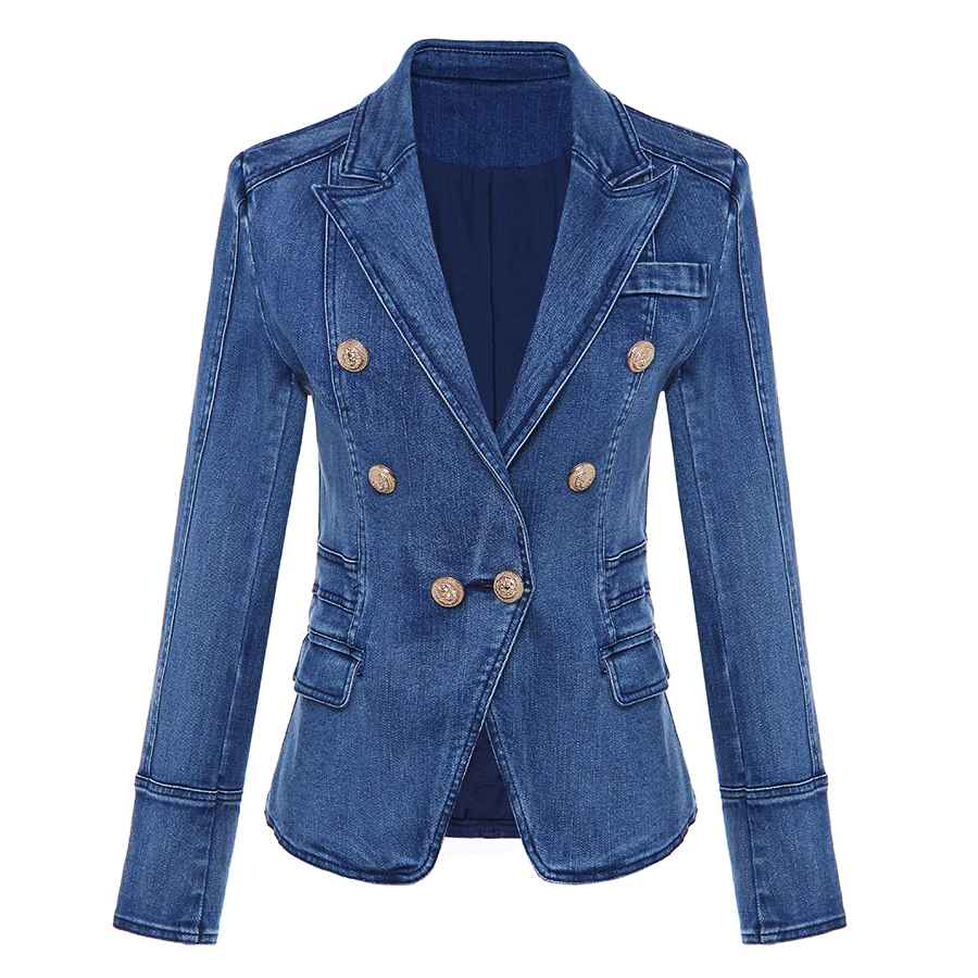 Blazers high quality new fashion 2018 designer blazer womens metal