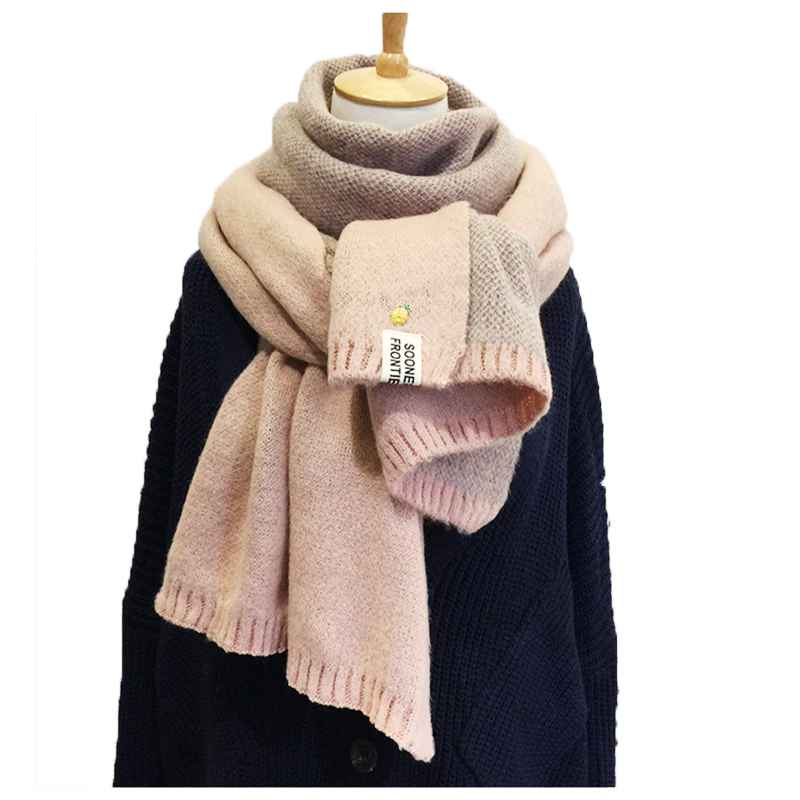 2019 New Lady Scarf Pineapple Wool Knitted Scarf Winter Warm