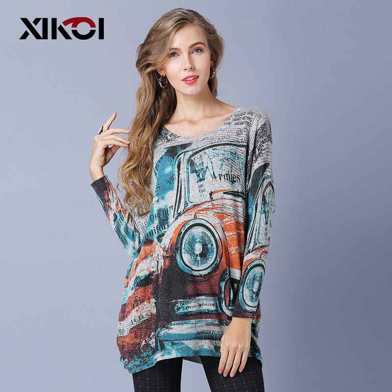 Xikoi Oversized Spring Loose Jumpers Women Knitting Sweaters Batwing Sleeve