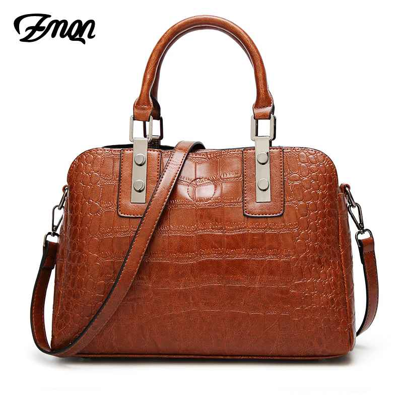 Luxury Women Handbag 2019 Crocodile Pattern Shoulder Bag For Women