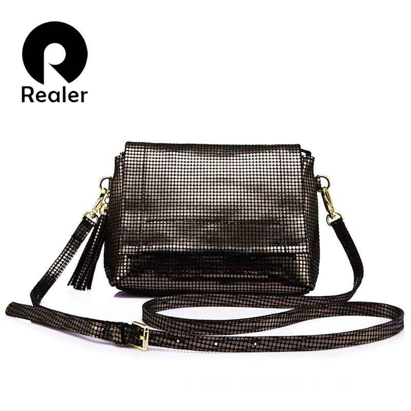 Genuine Leather Shoulder Bag Female With Tassel Women Messenger Bags