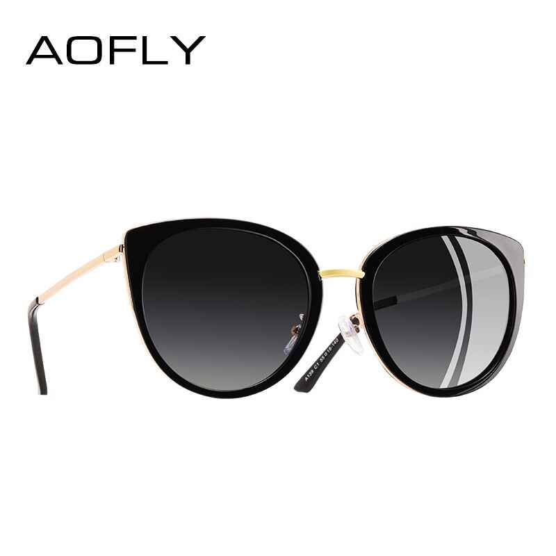 Women Sunglasses Vintage Style Metal Frame Ladies Polarized Sun Glasses