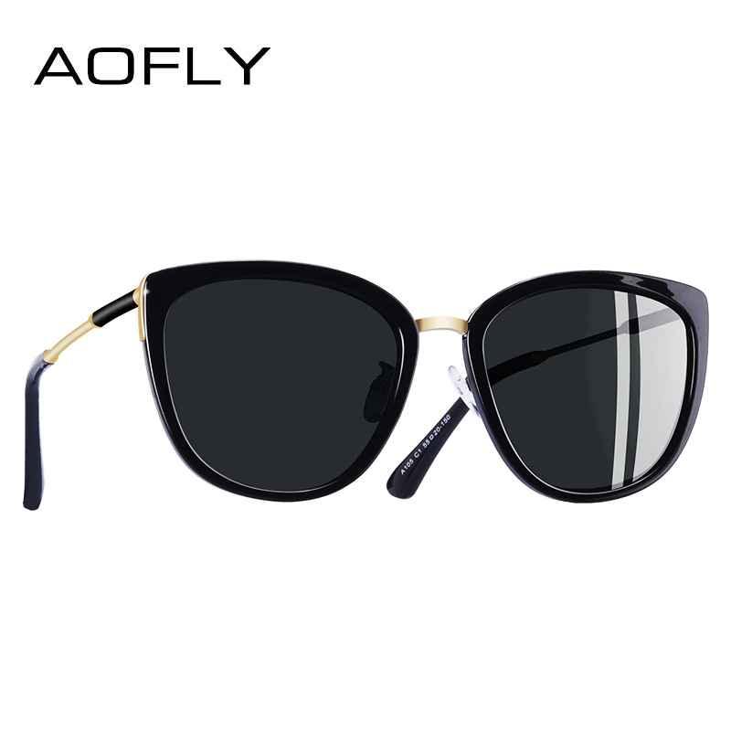 New Cat Eye Sunglasses Women Fashion Small Polarized Sunglasses Metal