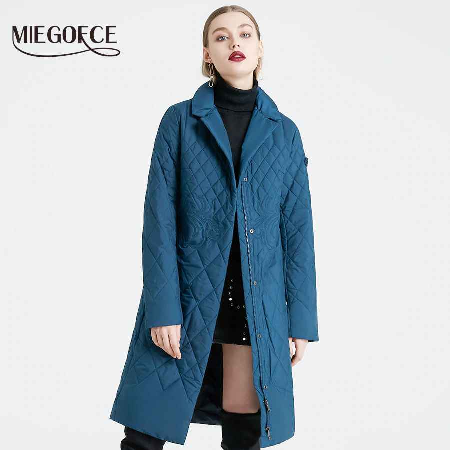 Miegofce 2019 Spring Women Parka Coat Warm Jacket Women Thin
