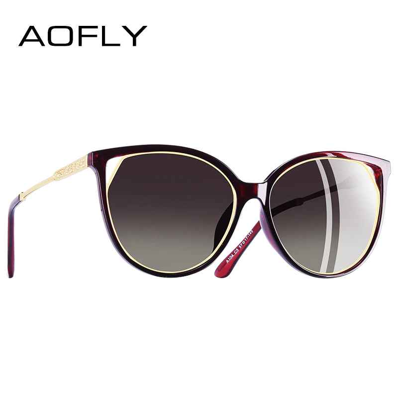 Cat Eye Sunglasses Women's Polarized Fashion Sun Glasses For Women