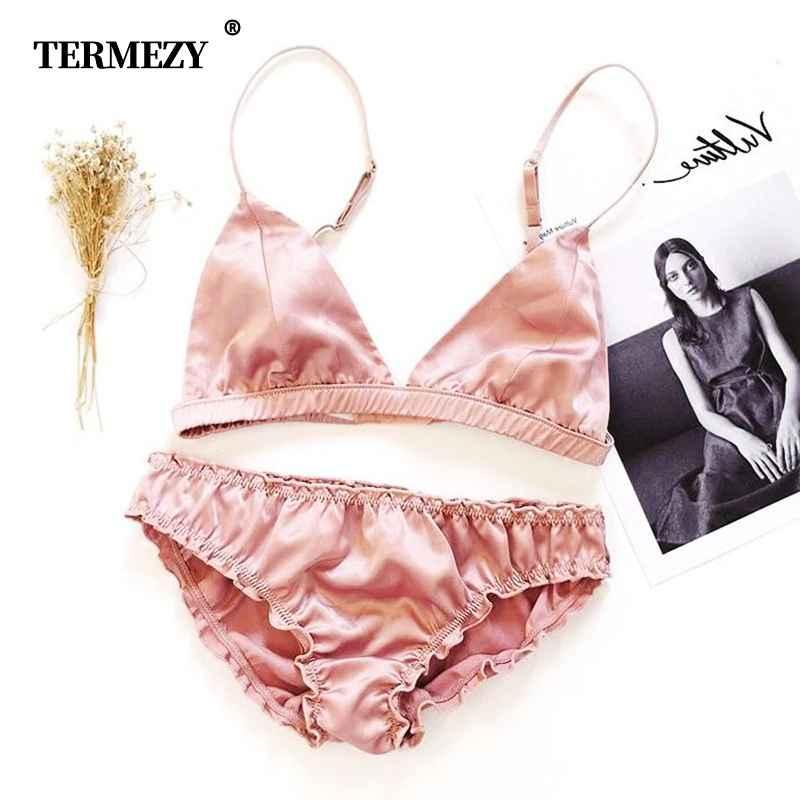 Termezy Women Bralette Set Ultrathin Comfortable Intimate Lingerie Wire Free