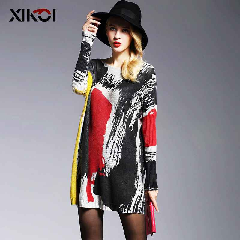 2018 Long Sweater Women Jumper Spring Oversized Pullover Casual Batwing