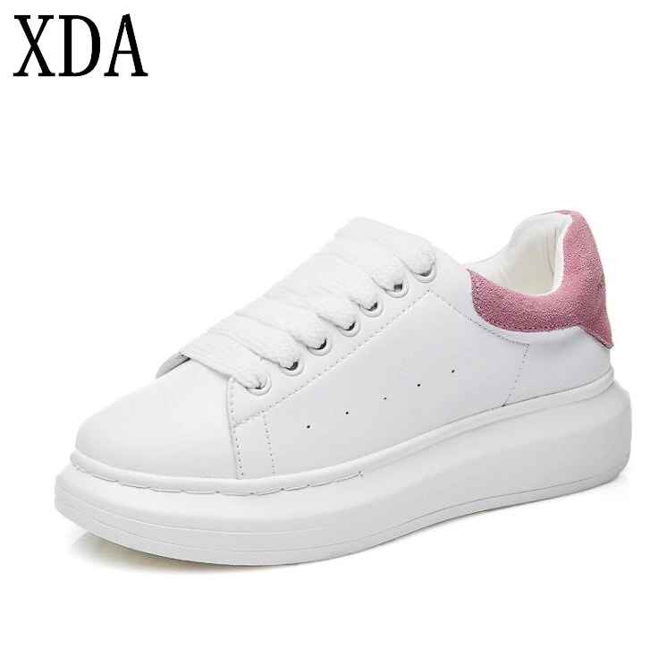 Xda 2019 New Fashion Spring Autumn Genuine Leather Flats Sheos