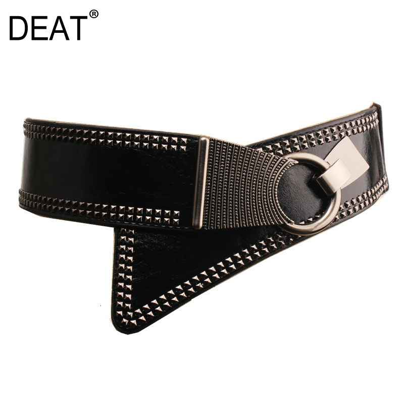 Deat 2018 Summer Personality Belt Circle Metal Buckle Fashion Wide
