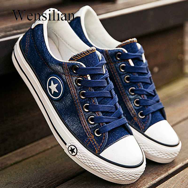 Vulcanize Shoes Denim Sneakers Women Basket Femme Canvas Shoes Anti