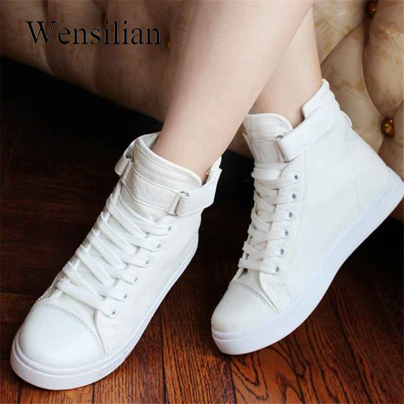 Vulcanize Shoes White Denim Sneakers Basket Femme Casual Shoes Tenis