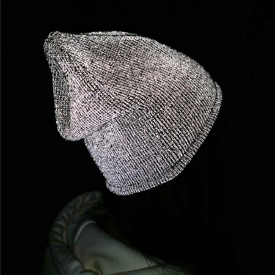 Tohuiyan Reflective Beanie Hat For Men Women Autumn Winter Warm