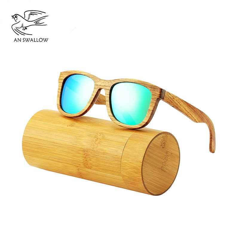 An Swallow New 100% Real Zebra Wood Sunglasses Polarized Handmade