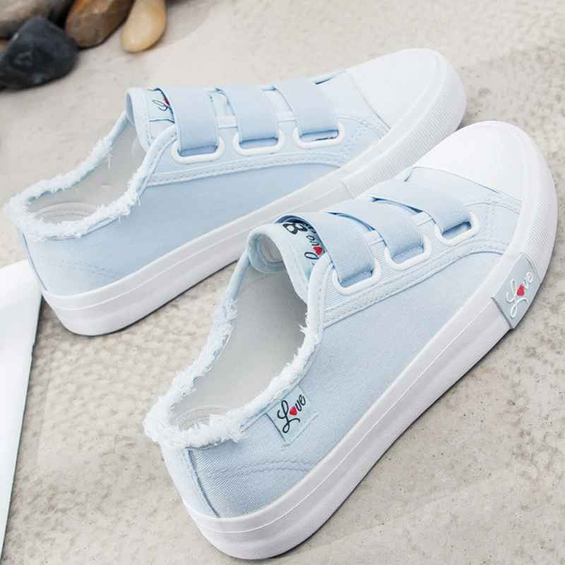 Sneakers Canvas Shoes For Women Fashion 2019 Solid Superstar Hook