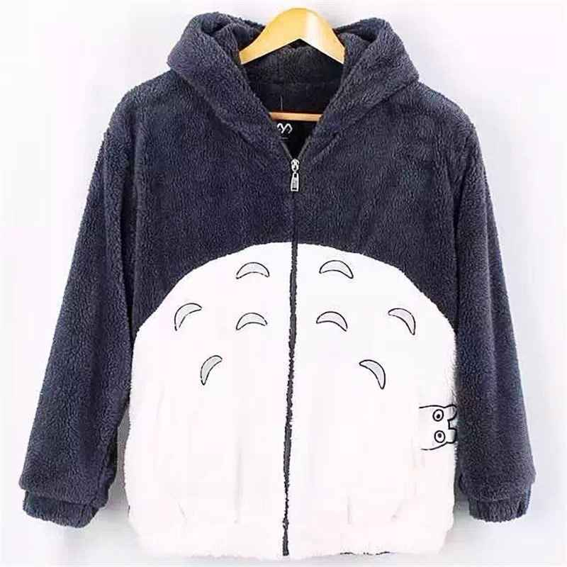 New Harajuku Totoro Kawaii Hoodie Sweatshirt My Neighbor Coat Cosplay