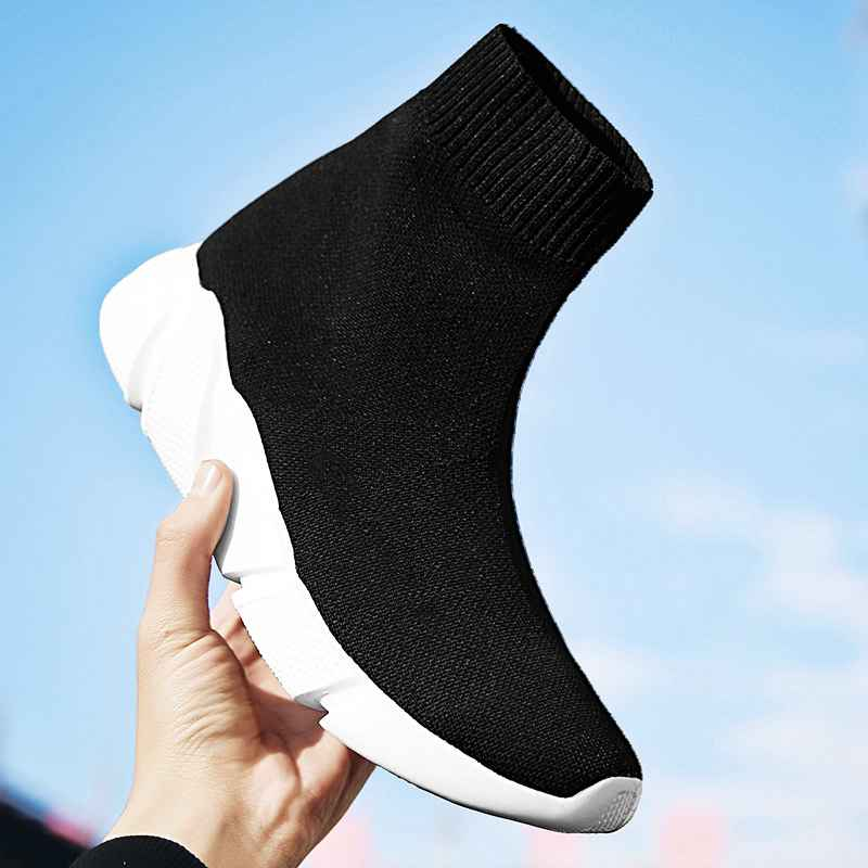 Mwy Breathable Ankle Boot Women Socks Shoes Female Sneakers Casual