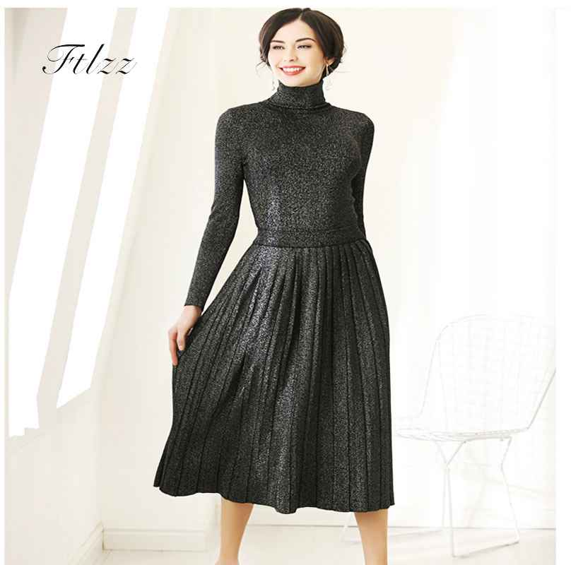 Autumn Winter Dresses New 2018 Auutmn Winter Two Piece Sets