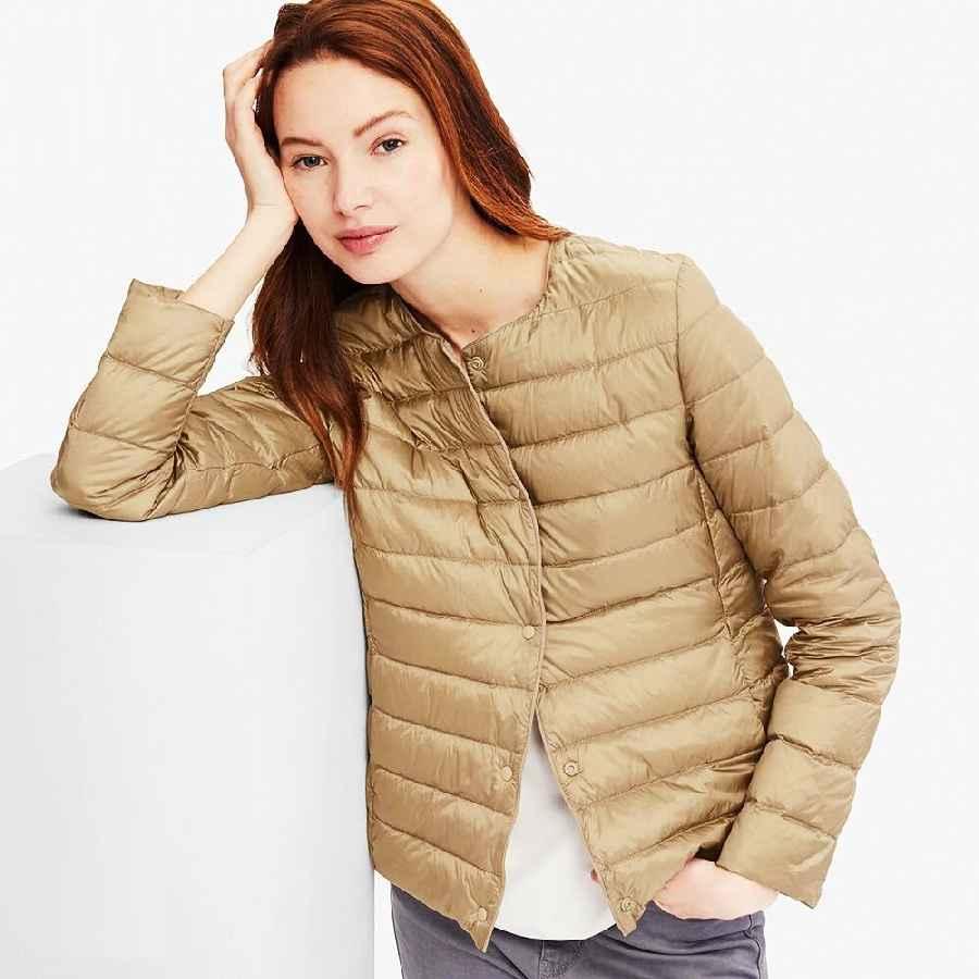 Coats newbang matt fabric light jacket female ultra light down