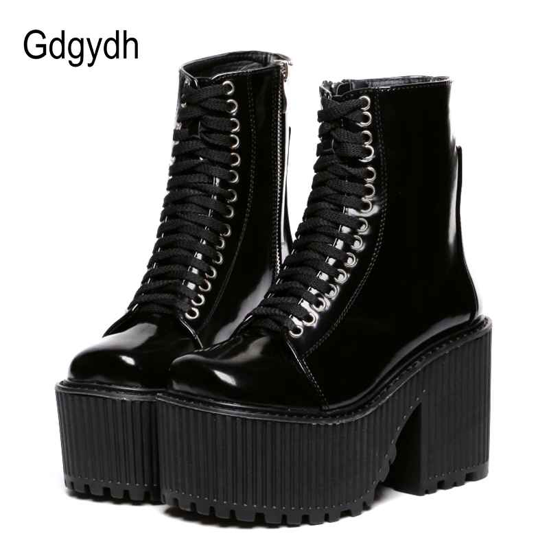 Gdgydh Fashion Ankle Boots For Women Platform Shoes Punk Gothic
