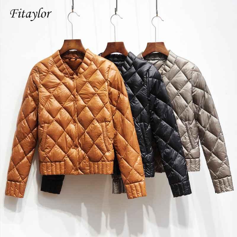 Coats fitaylor ultra light white duck down jackets autumn winter