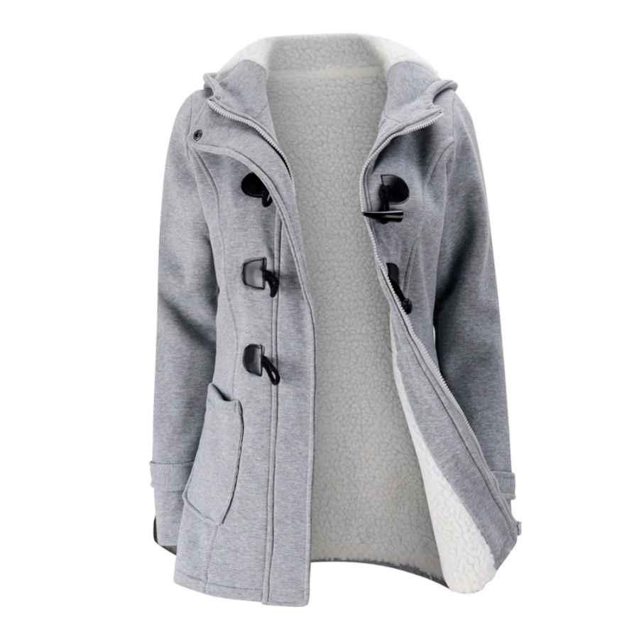 Jacket Coat Winter Women 2019 Hooded Wool Blend Praka Classic