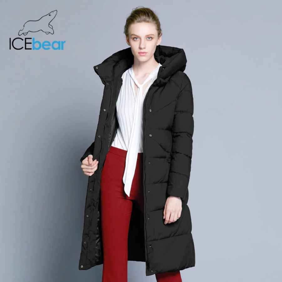Icebear 2019 New High Quality Women s Winter Jacket Simple Cuff