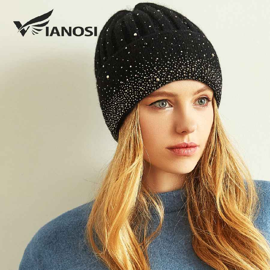 New Fashion Wool Winter Hats For Women Beanies With Pearl