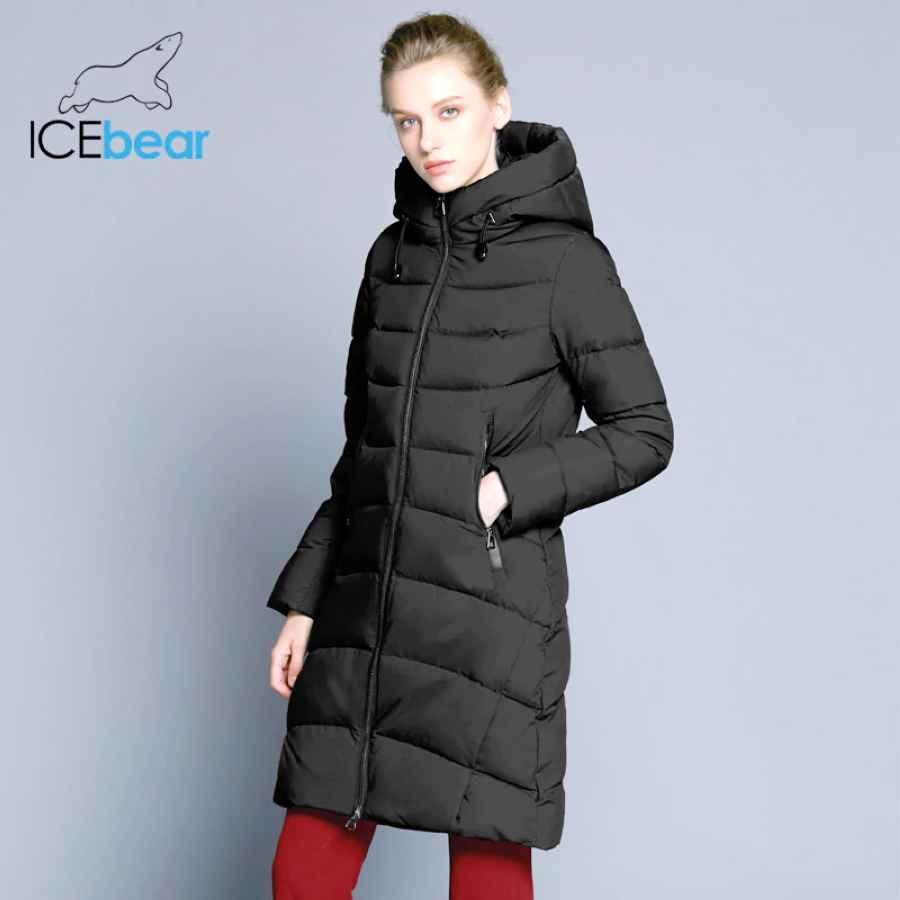 Icebear 2019 New High Quality Winter Coat Women Hooded Windproof