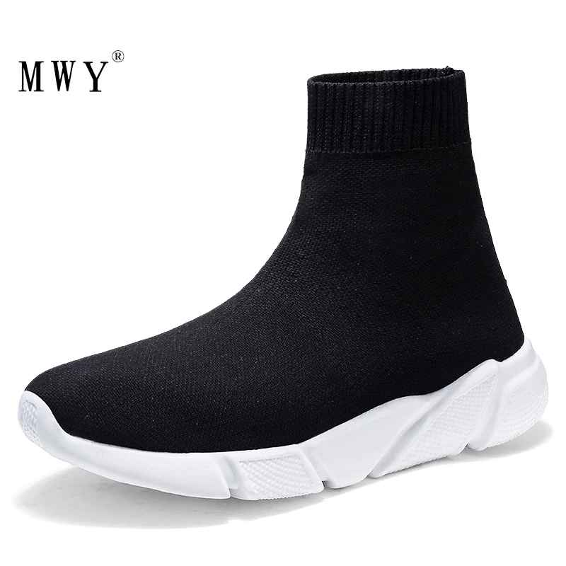 Mwy Breathable Flying Socks Shoes Thick Bottom Female Footwear Ladies
