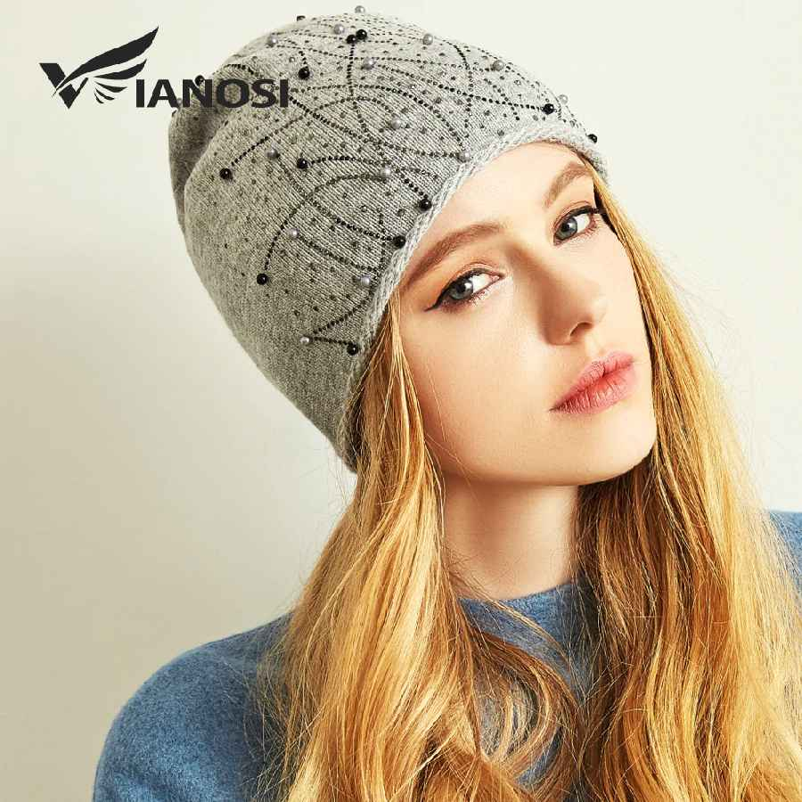 Winter Hats For Women Warm Wool Beanies Hat Brand Gorras