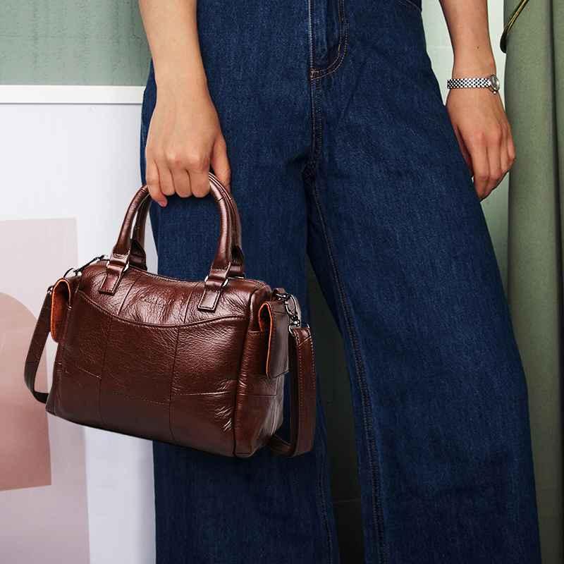 Women Leather Handbags Female Genuine Leather Luxury Handbags Women Bags