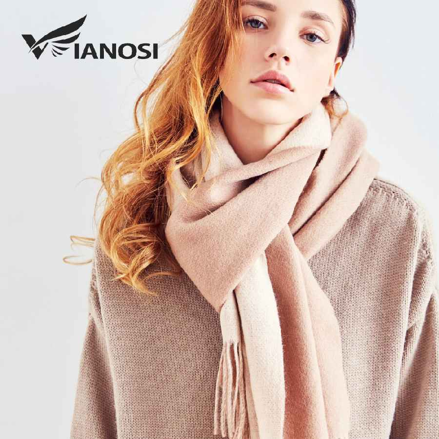 100% Wool Scarf Women Winter Scarves Brand Foulard Femme High