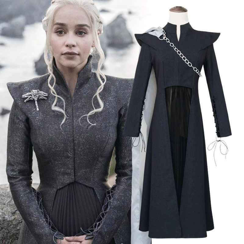 Game Thrones Daenerys Targaryen Costume Season 7 Cosplay Fancy Dress
