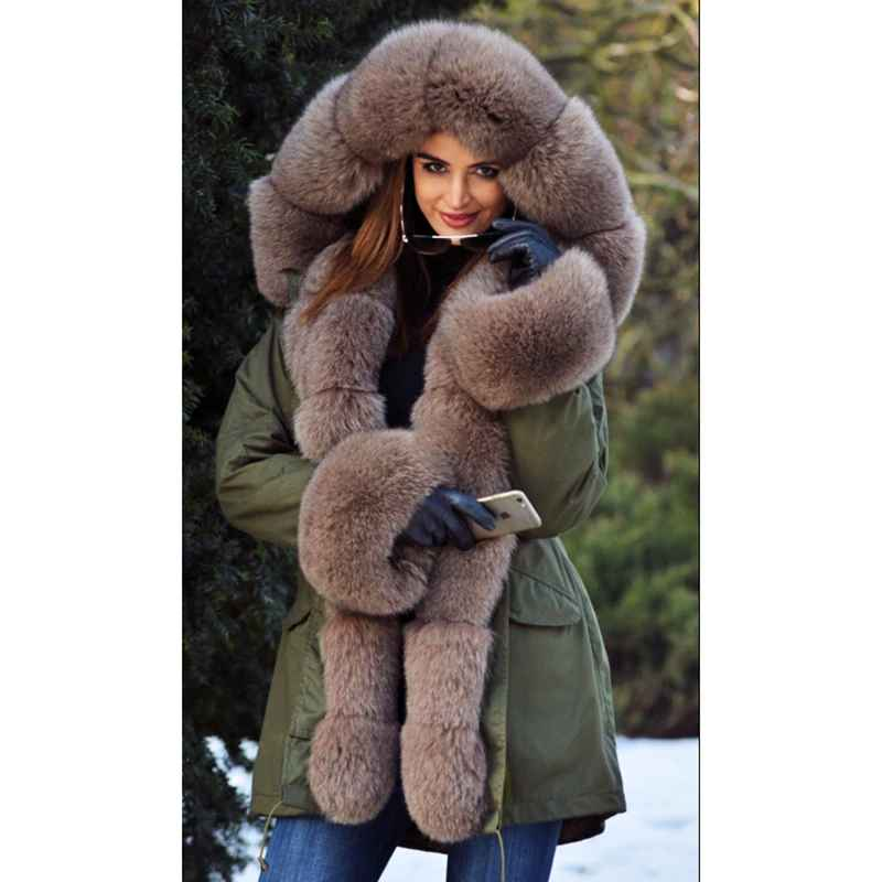 Coats tatyana women real fur parka coat fox fur collar
