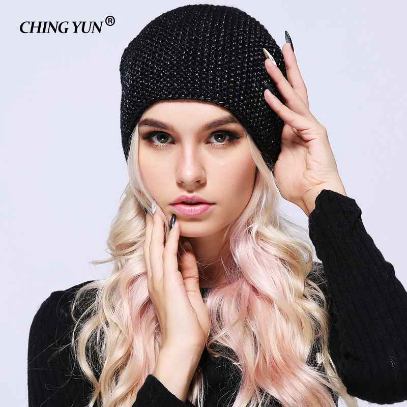 Ching Yun 2018 Winter Knitted Skullies Warm Hats For Women