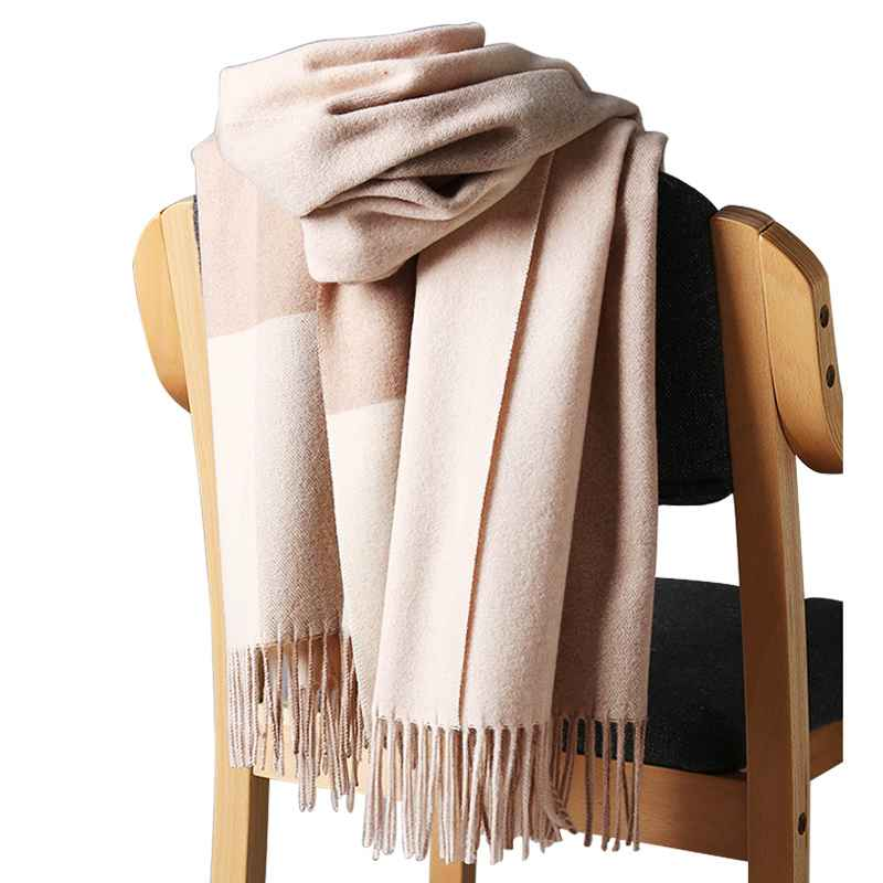 2019 New Real Cashmere Scarf Stole Plaid Wool Scarves For