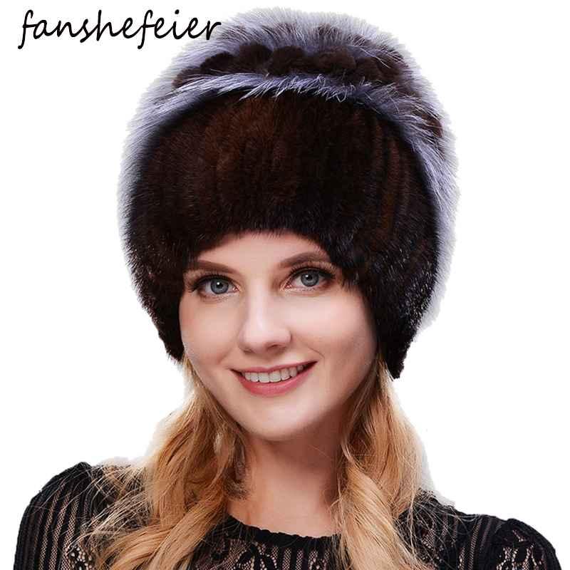 Fanshefeier Fashion Fox Fur Rabbit Hair Fur Hats For Women