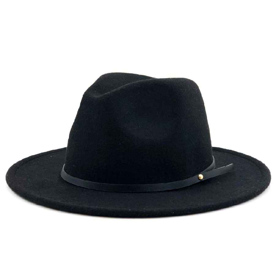 Women Men Wool Vintage Gangster Trilby Felt Fedora Hat With