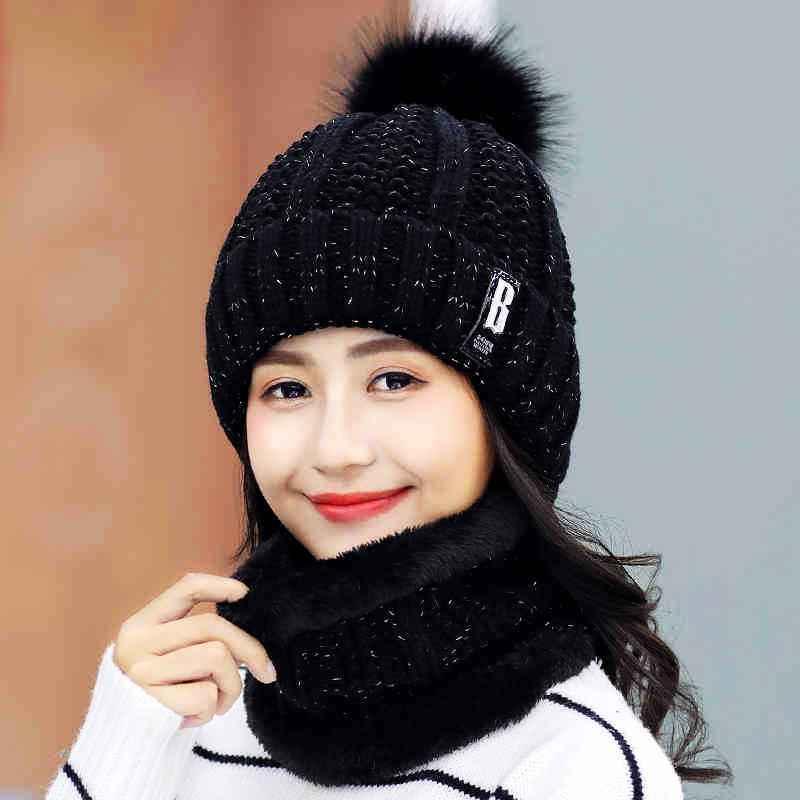 Warm Winter Skullies Beanies Knitted Hat Women Brand High Quality