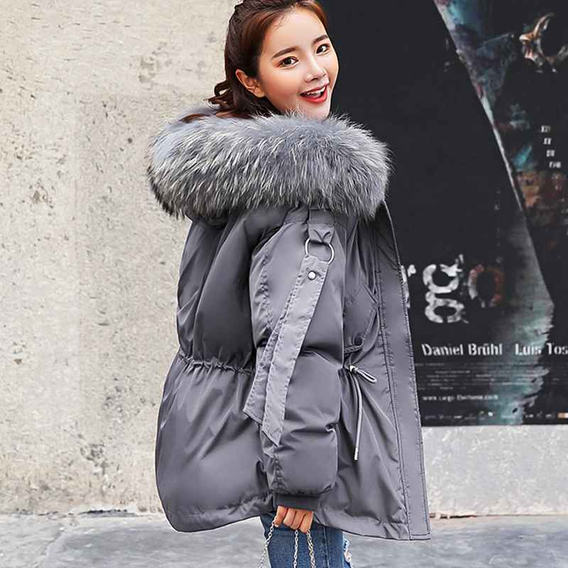 Parkas ftlzz 2019 women winter short jacket mujer hooded parkas