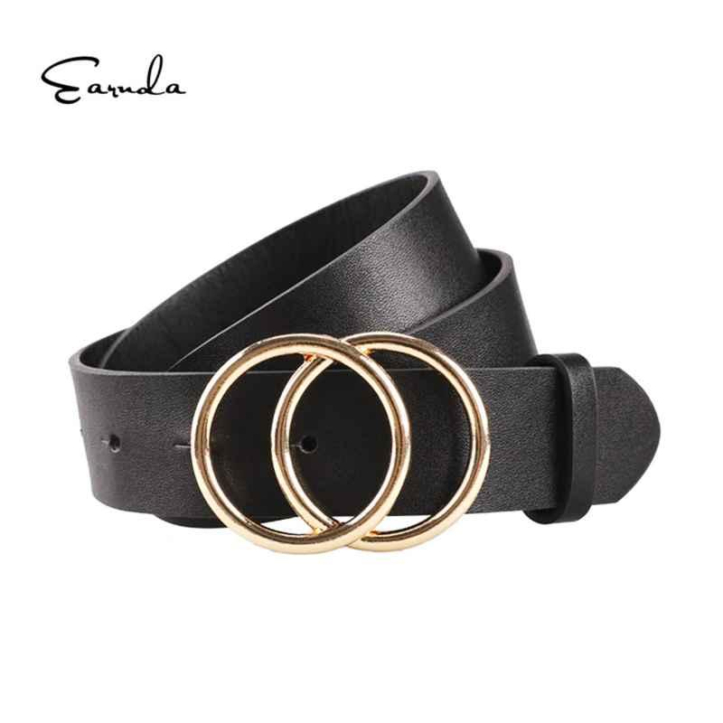 Women Belts For Women s Jeans Fashion Gold Buckle Waist Leather
